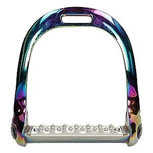 Epplejeck Steigbügel Rainbow Aluminium Grip – Mehrfarbig – Gr. 12,0 cm