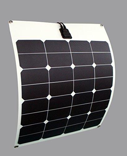enjoysolar® Flexible Módulo Solar 50W Panel Solar 12V Ideal para Caravan Yates