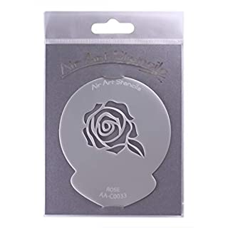 Rose Wedding Stencil - Reusable Flexible Food Grade Plastic Stencil for Cake and Craft Design, Airbrushing and more