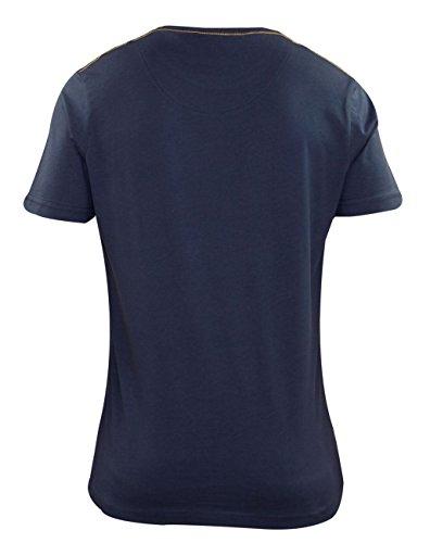 Mens Fire Trap manica corta stampa T Shirt Tee Casual Top di marca TOWSON-Total Eclipse