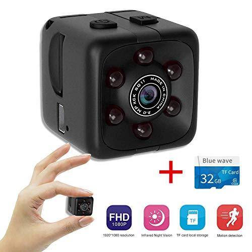 Aubess Mini cámara,SQ11 Micro Videocámara Oculta