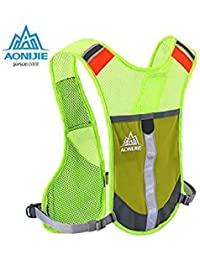 f1affa0a5e87 Green Color   Aonijie Marathon Outdoor Bag Bicycle Packsack Backpack Running  Vest Hydration Pack Running Bag