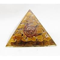 Tiger Eye Orgonite Pyramide/Reiki Heilung Crytsal Pyramiden- und Chakra-Dekoration 65mm mit Tasche preisvergleich bei billige-tabletten.eu