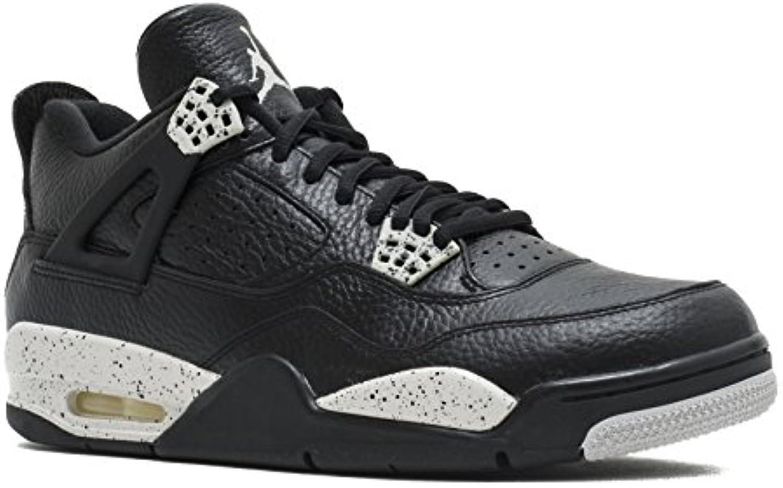 Nike Herren Air Jordan 4 Retro LS Basketballschuhe  Schwarz