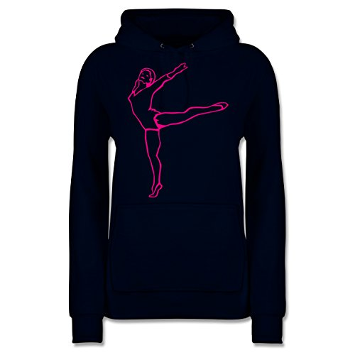 Wellness, Yoga & Co. - Rhythmische Sportgymnastik - S - Navy Blau - JH001F - Damen Hoodie