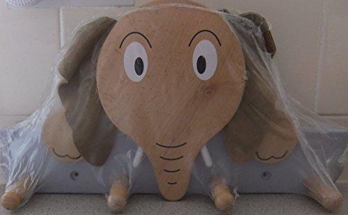 Perchero de madera, diseño de elefante