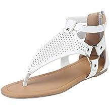dd26cb324 Mosstars Sandalias Mujer Verano 2019 Planas Sandalias Cremallera Punta  Abierta Mujer Rome Casual Hollow out Zapatos