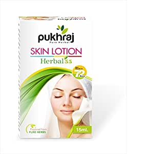 Pukhraj Herbal-55 Skin Lotion (Transparent, 15 ml)