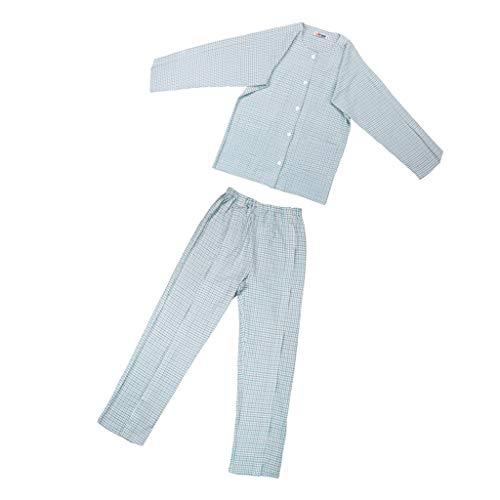 Fenteer Alter Mann Pflege Schlafanzug, Patient Tuch Offene -