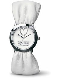 Moschino MW0049 - Reloj analógico de mujer de cuarzo con correa de piel blanca - sumergible a 30 metros