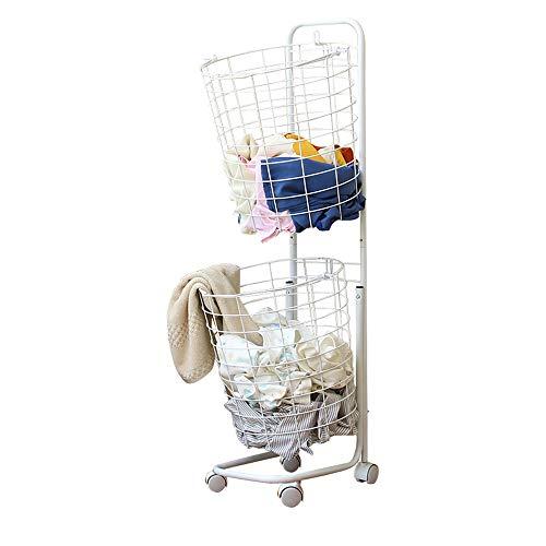 YYLL Ablagekorb, Schmutziger Wäschekorb, Kleiderschrank Für Badezimmer Mit Bügeleisen Bewegen Sie Die Schmutzige Kleidung In Den Badkorb,