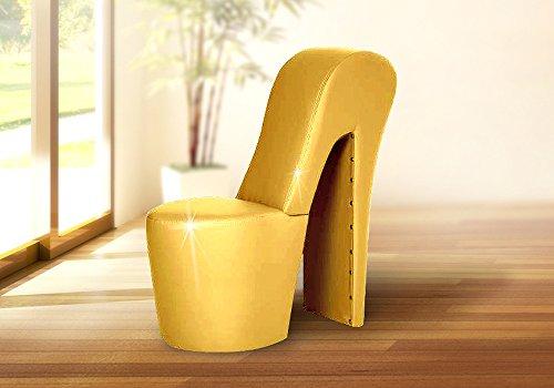 Schuhsessel DESIGNER Sessel - LARA / Gold - High Heel Sessel