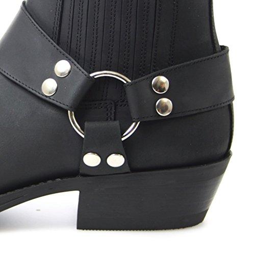 Fashion boots bU2004 bikerstiefelette bottines noir Noir - Noir
