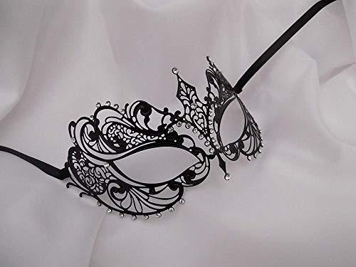 Snner venezianischer Art Laser-Schnitt Metall Filigree Maskerade-Partei-Maske Diamante