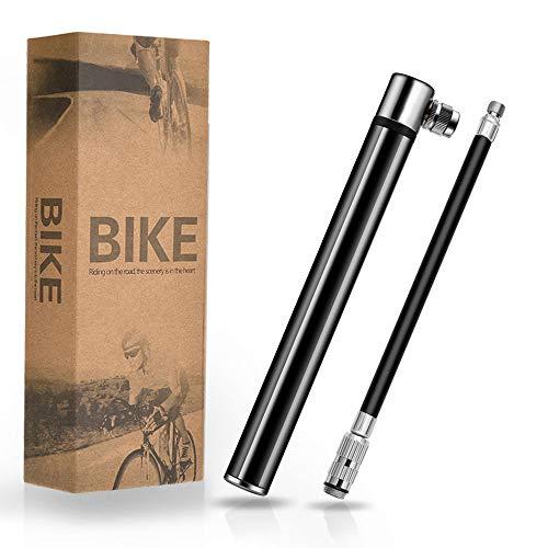 TBoonor Mini Fahrradpumpe Luftpumpe Fahrradluftpumpe Geeignet für Presta & Schrader Ventile kompakt & leichte Rahmen Pumpe Max Druck 120 PSI/8.3 Bar Handpumpe für Rennrad/Mountainbike