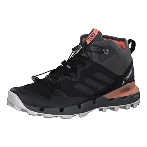 adidas Damen Terrex Fast Mid GTX-Surround W Walkingschuhe, Schwarz (Core Black/Grey Five F17/Chalk Coral S18 Core Black/Grey Five F17/Chalk Coral S18), 40 2/3 EU