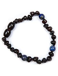 Money Back Guarantee 100/% Genuine Baltic Amber /& Semi Precious Anklet Bracelet Cherry Rose Agate sizes 18cm Free UK Delivery
