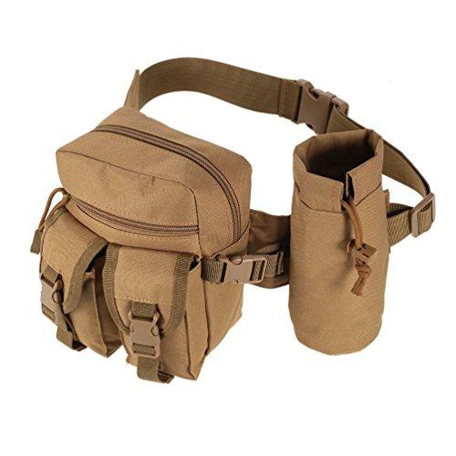 Vbiger Tactical Gürteltasche Military Gürteltasche multifunktionale Taille Pouch für Outdoor-Aktivitäten Khaki