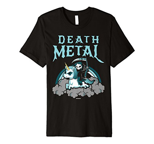 Einhorn Death Metal Rocker Go To Hell Shirt Damen-black Metal