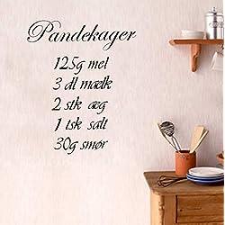 KUANGJING Wie Man Pfannkuchen kocht KücheWandaufkleber kreative DIY Wandtattoos Wohnkultur Freies Schiff Vinyltapete 41x50cm