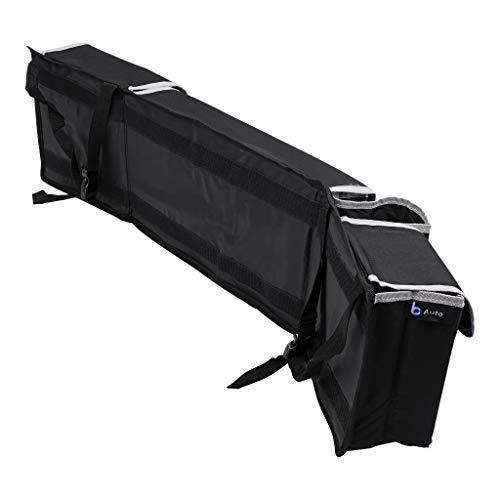 in tessuto Oxford 600/D per bagagliaio Organizer per bagagliaio nero larghezza x altezza x profondit/à:90/cm x 25/cm x 12/cm. lavabile con 3/tasche in velcro richiudibili e 1/portabottiglie