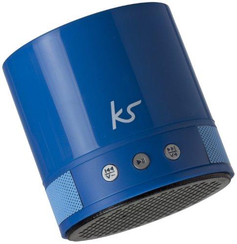 KitSound PocketBoom XB Universal Tragbarer Wiederaufladbarer Bluetooth Lautsprecher mit Extra Bass und Freisprecheinrichtung Kompatibel mit allen iPads, iPods, Samsung, Nexus, BlackBerry, Nokia, Windows 8, HTC sowie Bluetooth-fähigen MP3-Playern - Blau