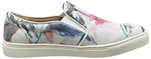 Moda in Pelle Ambra, Baskets Basses femme Multicolore - Multicolor (Floral)