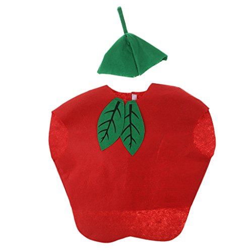 B Baosity Kinder Kostüm Cosplay Verkleidung Tierkostüm Obst Kostüm Foto Outfits Kostüm Kleidung - Äpfel