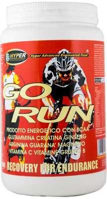 Integratori Ciclismo GO RUN g1000 Energetico Specifico Sport Faticosi con Carboidrati Maltodestrine Fruttosio Destrosio Glutaina Creatina BCAA