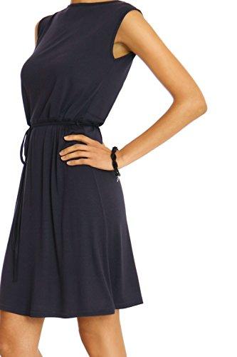 Bestyledberlin Damen Sommer Kleid Abendkleid Damenkleid Cocktailkleid  knielang k19pne Schwarz