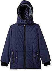 Fort Collins Girls Regular Fit Jacket (69151_Navy_30 (10 - 11 years))