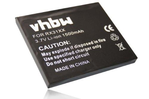 vhbw Akku passend für HP IPAQ HX2000, HX2100, HX2110, HX2115, HX2120, HX2190, HX2700 Handy, Telefon ersetzt FA286A, 360136-001 (1.5Ah, 3.7V, Li-Ion) Hp Handys