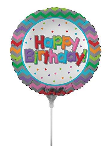 onverting Luftgefüllte Geburtstag Chevron Ballon mit Stick und Tischler, 45,7cm farbenreiche ()