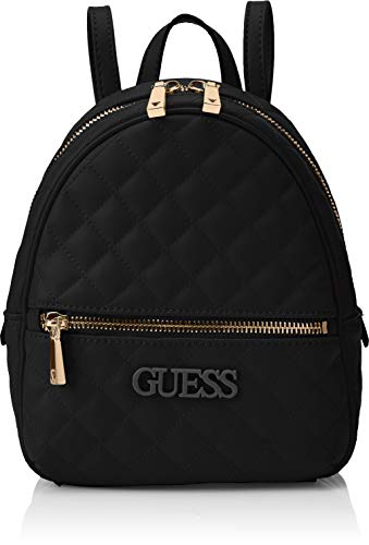 Guess Damen Elliana Backpack  Rucksack Damen - Schwarz (Black) - 22x29x10.5 centimeters (W x H x L)