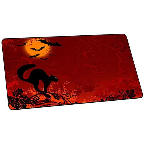 Halloween-Kinder/Jungen/Mädchen Kinderschreibtisch Multifunktionales Office Mauspad/Gaming Mousepad/wasserdichte Schreibtischunterlage aus PU-Leder, ideal für Büro und Zuhause,D