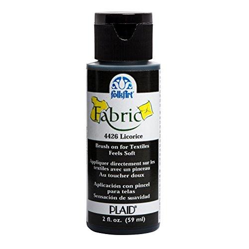 Plaid:Craft FolkArt Fabric Brush-On Paint 2oz-Licorice