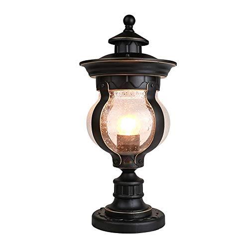 ichte Landschaft LED Laternenpfahl Licht Park Garten Hof Wohn Zaun Grenze Villa Park Spalte Lampe Externe wasserdichte Tischlampe ()