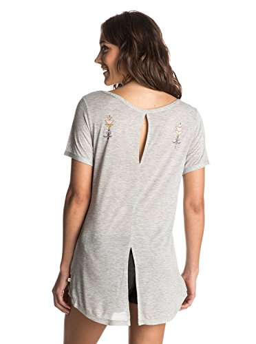 Roxy Damen Sunset Day Travel Tattoo T-Shirt Grau - Grau (Heritage Heather)