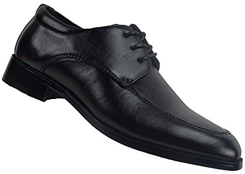 CAPRIUM Jungen Schnürschuhe, Festlicher Kinderschuh, Konfirmationsschuhe Kommunionschuhe Schuhe Gr. 25-36 (31, Schwarz Derby)