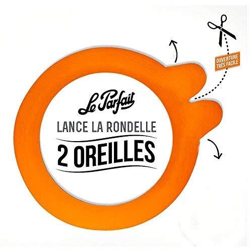 in plastica 85 mm diam confezione da 10 colore: arancione Le Parfait 8012382,0 Rondella Guarnizione con 2 orecchie
