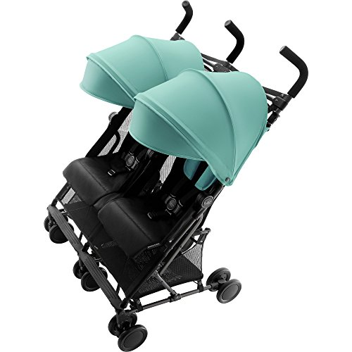 Britax Holiday Double Buggy, 6 Monate bis 3 Jahre bis 15 kg pro Sitz, Kollektion 2018, aqua green