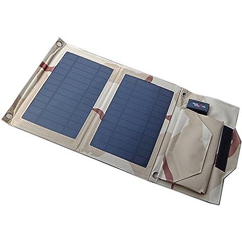 Coolux 7W pannello solare pieghevole caricatore per 5V USB-Charged dispositivi