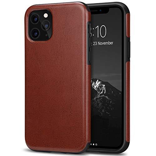 TENDLIN Cover iPhone 11 PRO Pelle Ibrida TPU Custodia Compatibile con iPhone 11 PRO (Marrone)