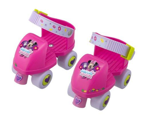 HTI – Minnie Mouse – Patins à Roulettes 4 Roues Junior – Taille Ajustables de 22 à 29 (Import UK)