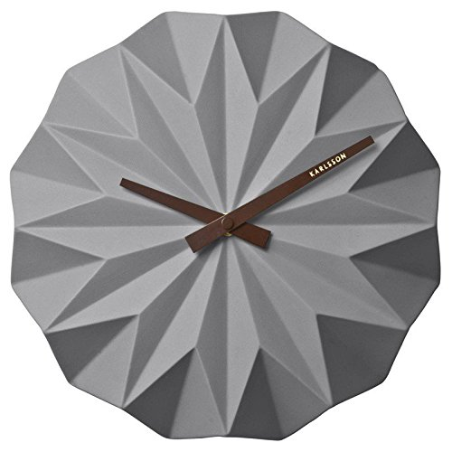 Karlsson ceramica origami grigio orologio da parete–KA5531GY