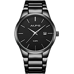 ALPS Montre Homme Simple Quartz Analogique