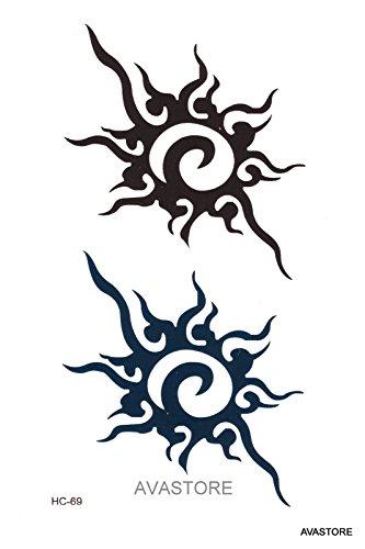 Tatuaggio temporaneo - tatuaggio sole tribale