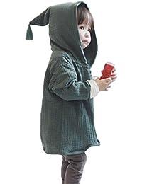 AMUSTER AMUSTER Kleinkind Kinder Unisex Baby Junge Mädchen Mantel Mit Kapuze Hooded Sweatshirt Strickjacke Pullover Outwear Trenchcoat