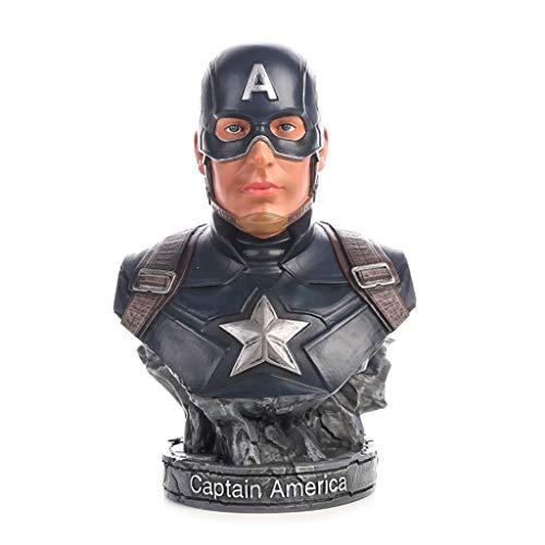 FFLSDR Hero Avengers Captain America Kapitän Büste Modell Statue Anime Dekoration 6.6in -