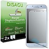 2 x DISAGU Film blindé film de protection d'écran pour Samsung Galaxy A5 (2017) film de protection contre la casse (intentionnellement plus petit comme l'écran, parce qu'il est arqué)